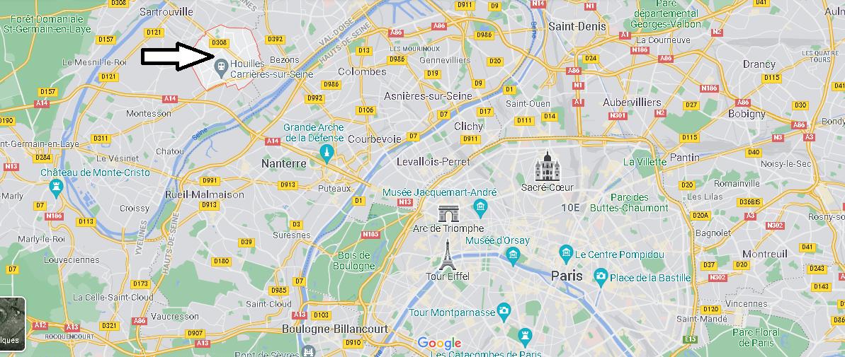 Où se situe Houilles (Code postal 78800)