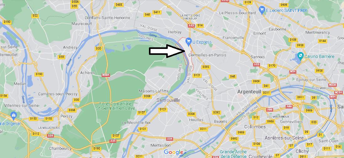 Où se situe La Frette-sur-Seine (Code postal 95530)