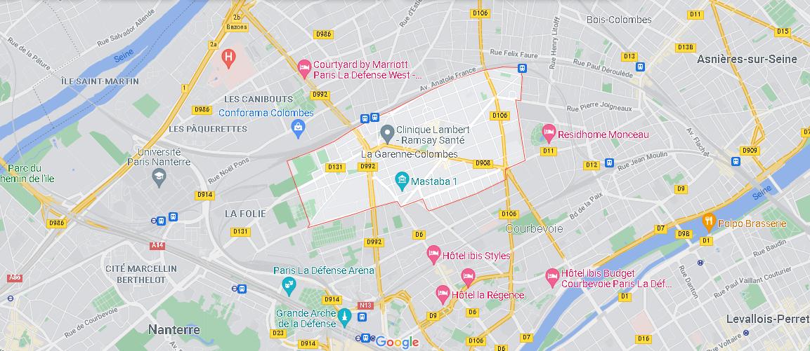 Où se situe La Garenne-Colombes (Code postal 92250)