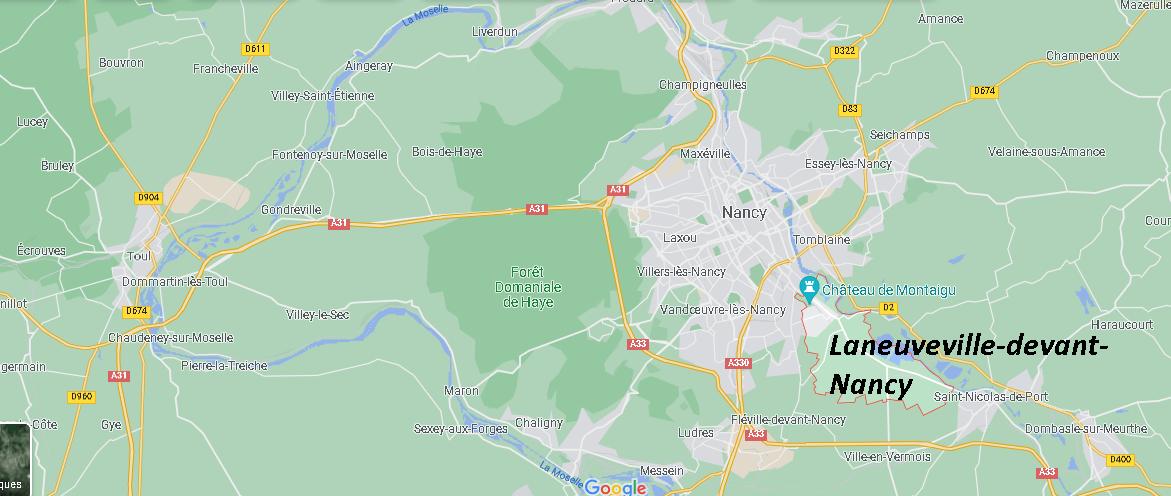 Où se situe Laneuveville-devant-Nancy (Code postal 54410)