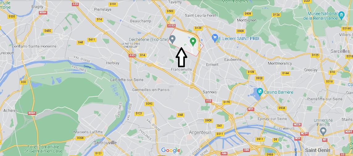 Où se situe Le Plessis-Bouchard (Code postal 95130)