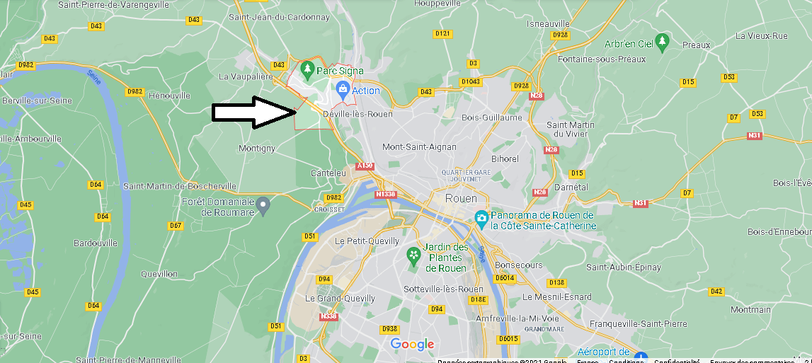Où se situe Maromme (Code postal 76150)