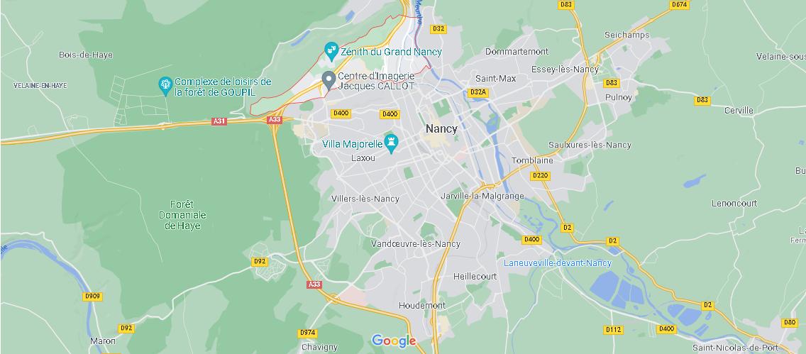 Où se situe Maxéville (Code postal 54320)