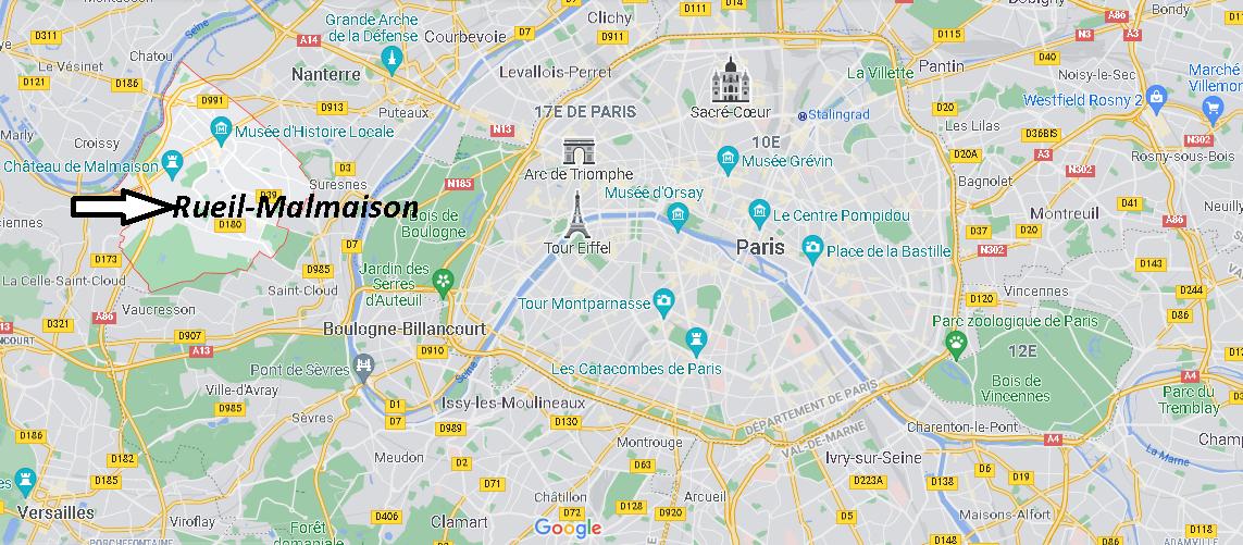 Où se situe Rueil-Malmaison (Code postal 92500)