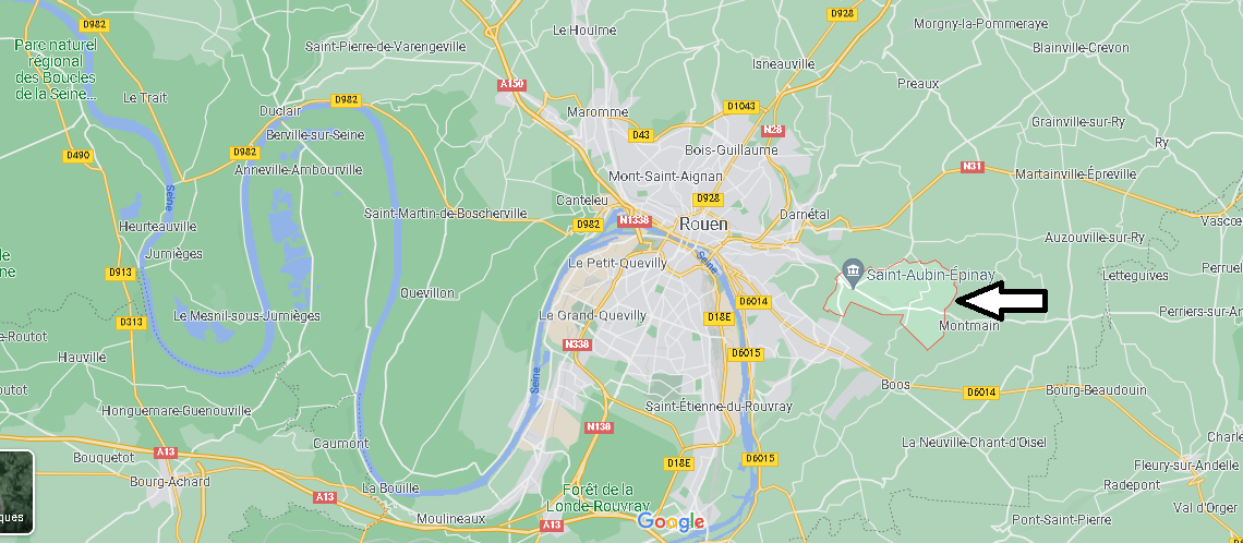 Où se situe Saint-Aubin-Épinay (Code postal 76160)