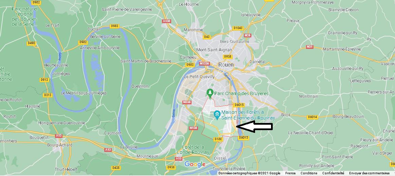Où se situe Saint-Étienne-du-Rouvray (Code postal 76800)