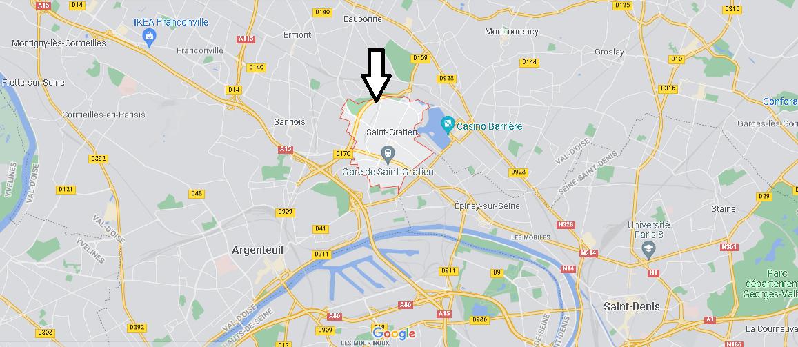 Où se situe Saint-Gratien (Code postal 95210)