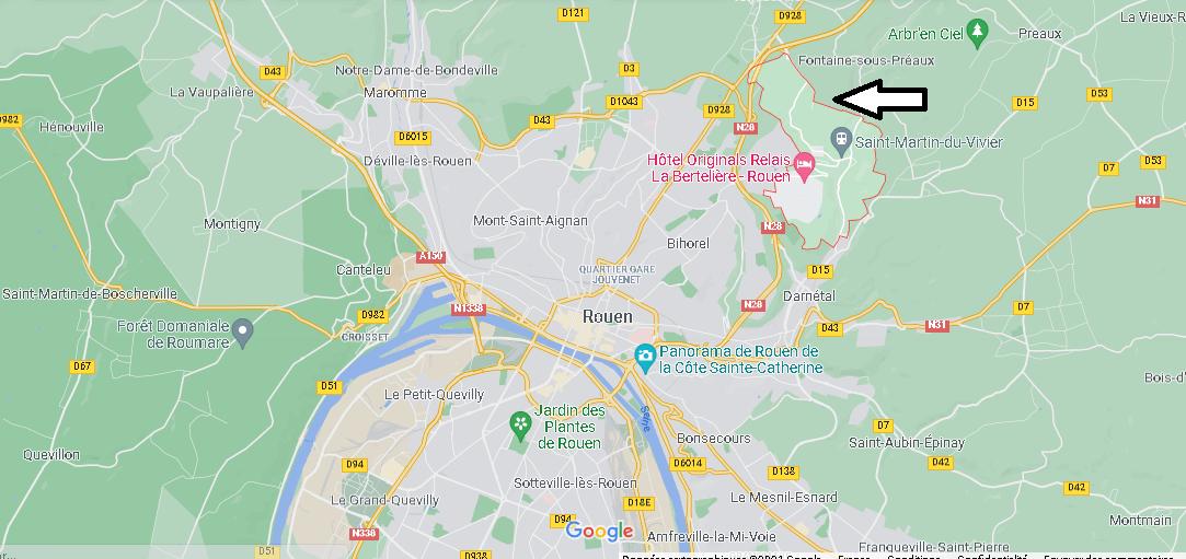 Où se situe Saint-Martin-du-Vivier (Code postal 76160)