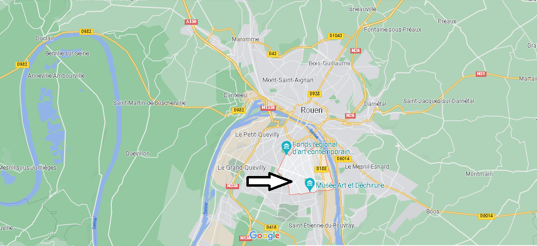 Où se situe Sotteville-lès-Rouen (Code postal 76300)