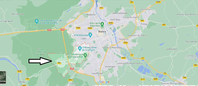Où se situe Villers-lès-Nancy (Code postal 54600)