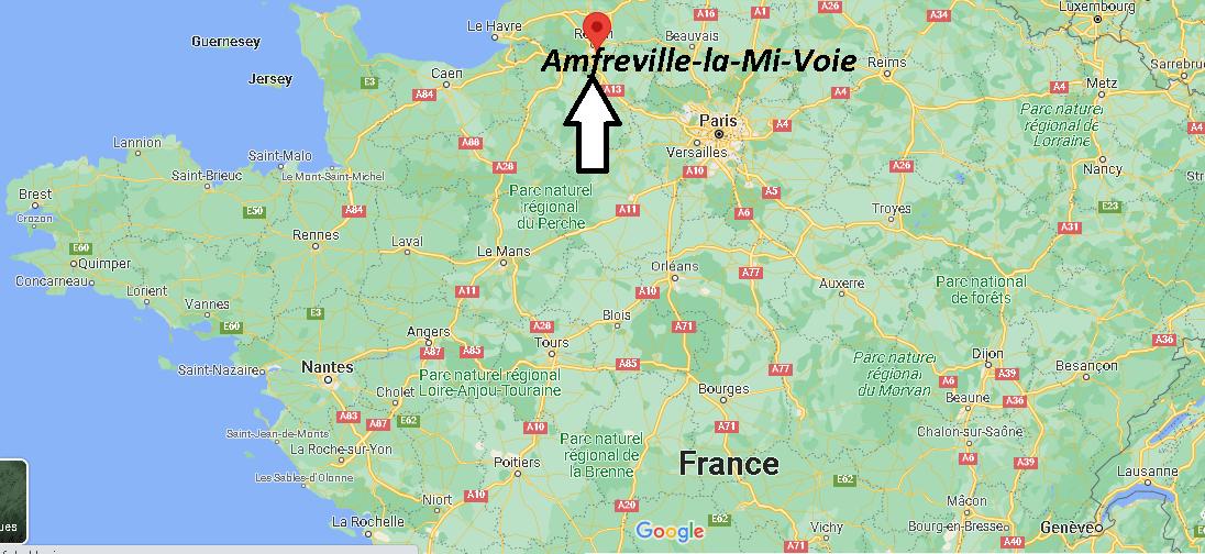 Où se trouve Amfreville-la-Mi-Voie