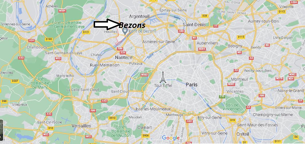 Où se trouve Bezons