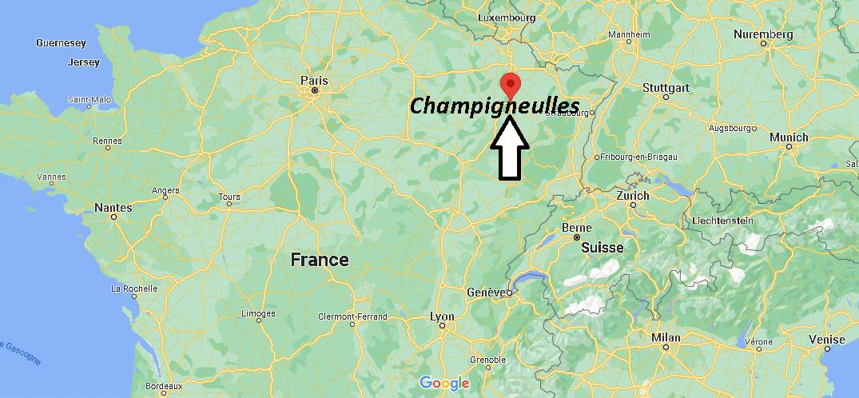 Où se trouve Champigneulles