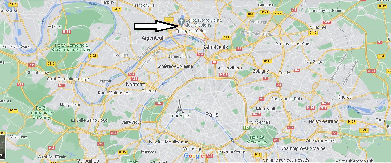 Où se trouve Épinay-sur-Seine