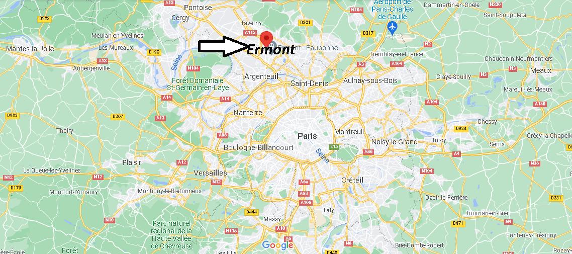 Où se trouve Ermont