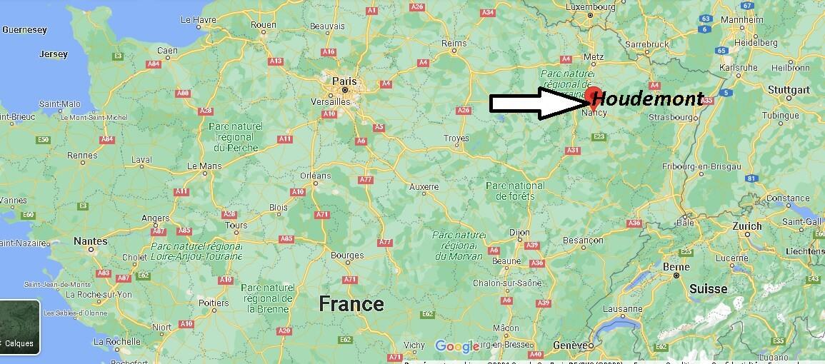 Où se trouve Houdemont