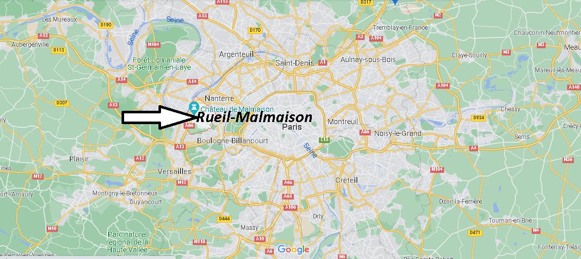 Où se trouve Rueil-Malmaison