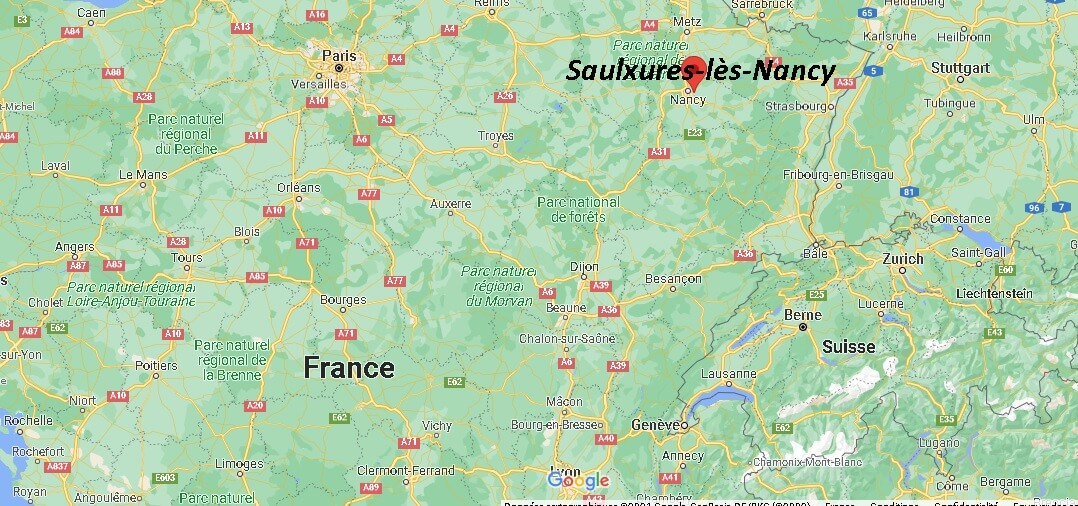 Où se trouve Saulxures-lès-Nancy