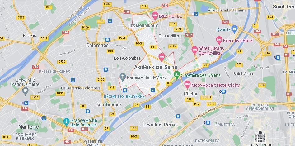Carte Asnières-sur-Seine