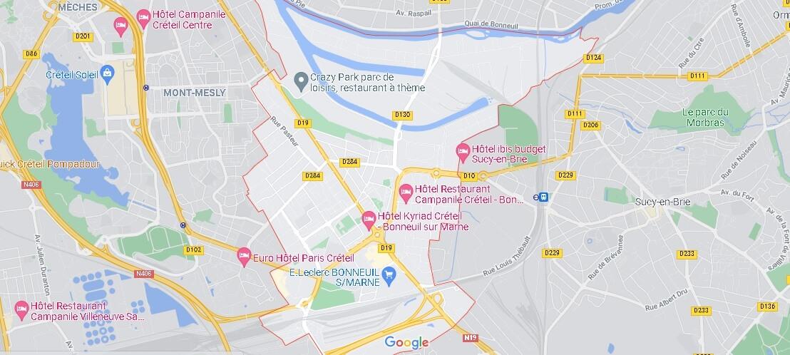 Carte Bonneuil-sur-Marne
