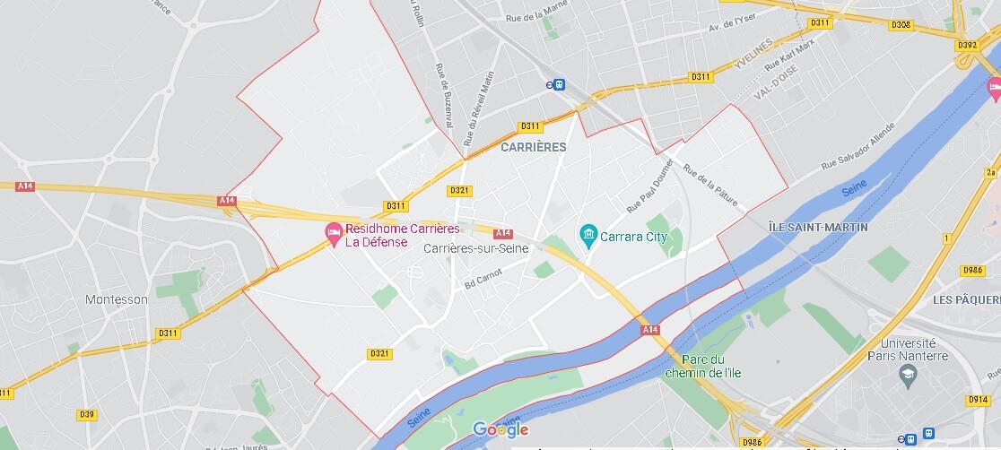 Carte Carrières-sur-Seine