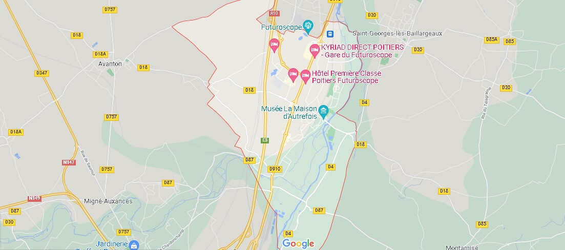 Carte Chasseneuil-du-Poitou