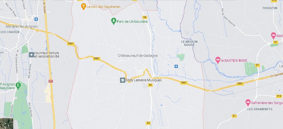 Carte Châteauneuf-de-Gadagne