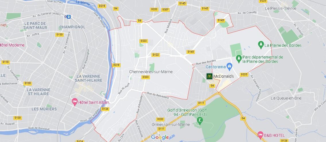 Carte Chennevières-sur-Marne