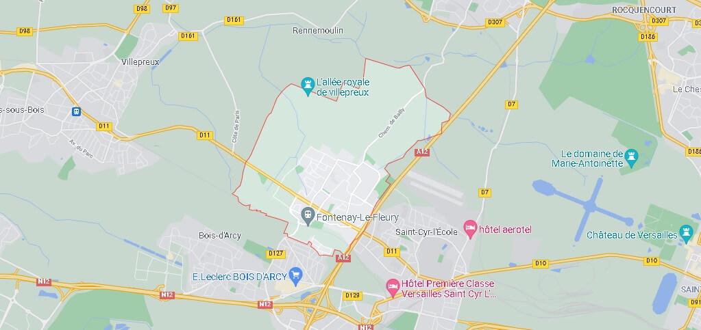 Carte Fontenay-le-Fleury
