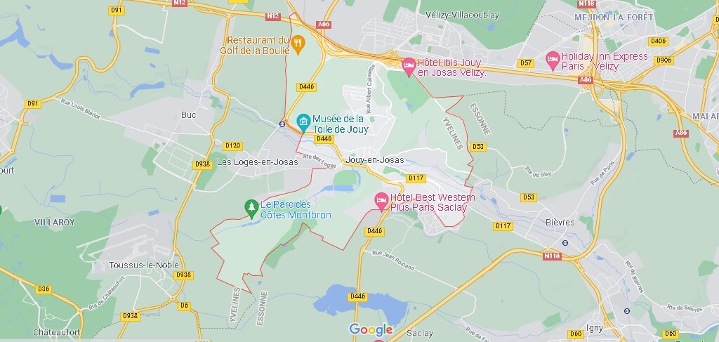 Carte Jouy-en-Josas