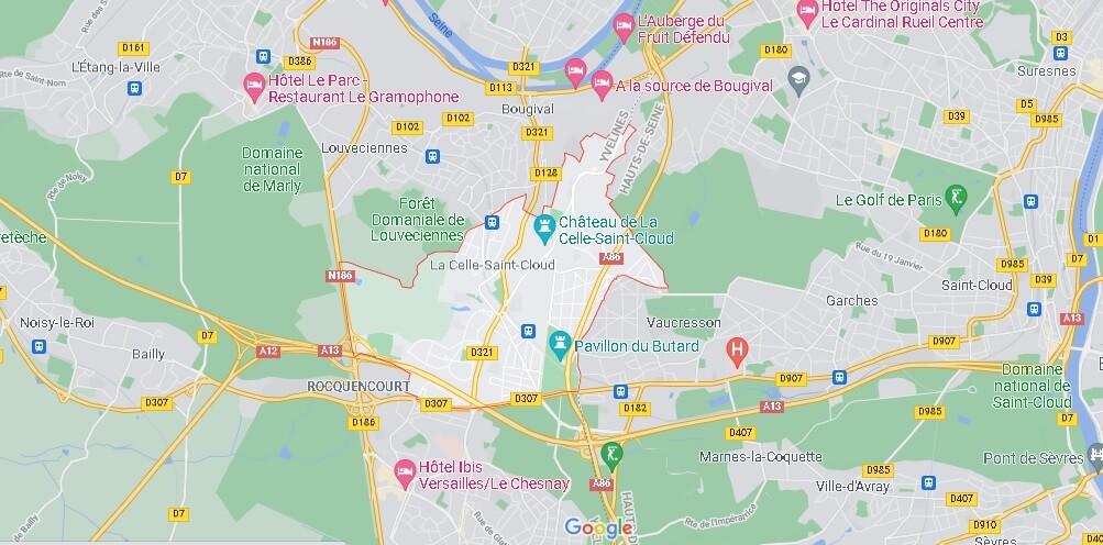 Carte La Celle-Saint-Cloud