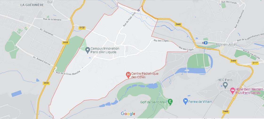Carte Les Loges-en-Josas