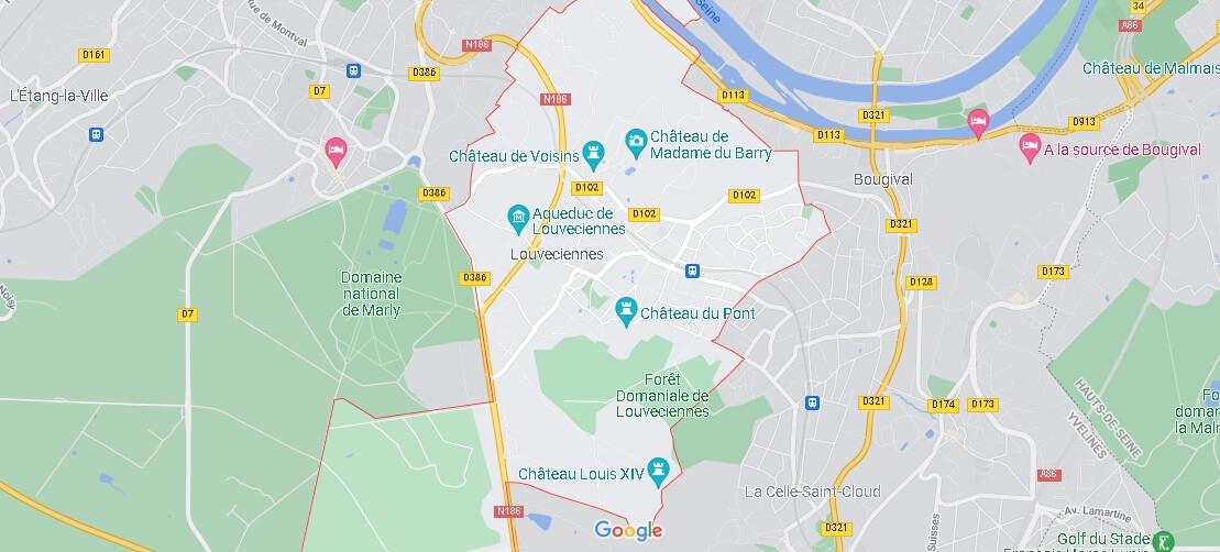 Carte Louveciennes