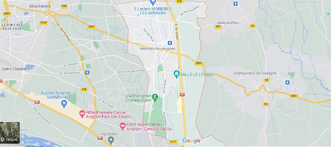 Carte Morières-lès-Avignon