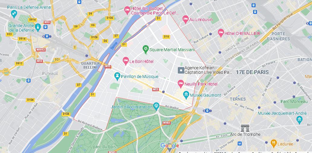 Carte Neuilly-sur-Seine
