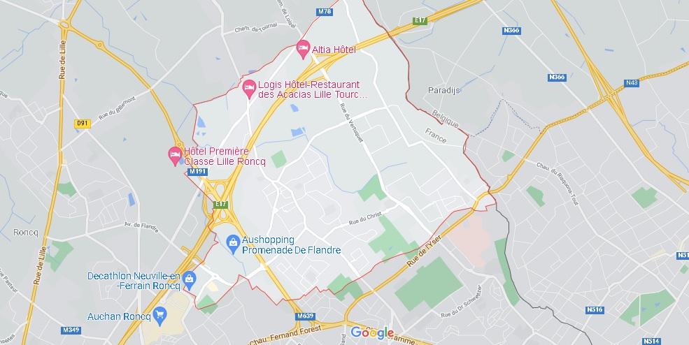 Carte Neuville-en-Ferrain