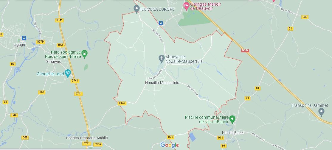 Carte Nouaillé-Maupertuis