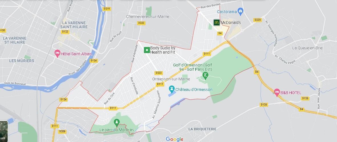Carte Ormesson-sur-Marne