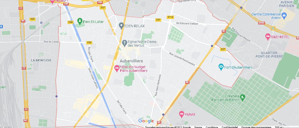 Carte Plan Aubervilliers