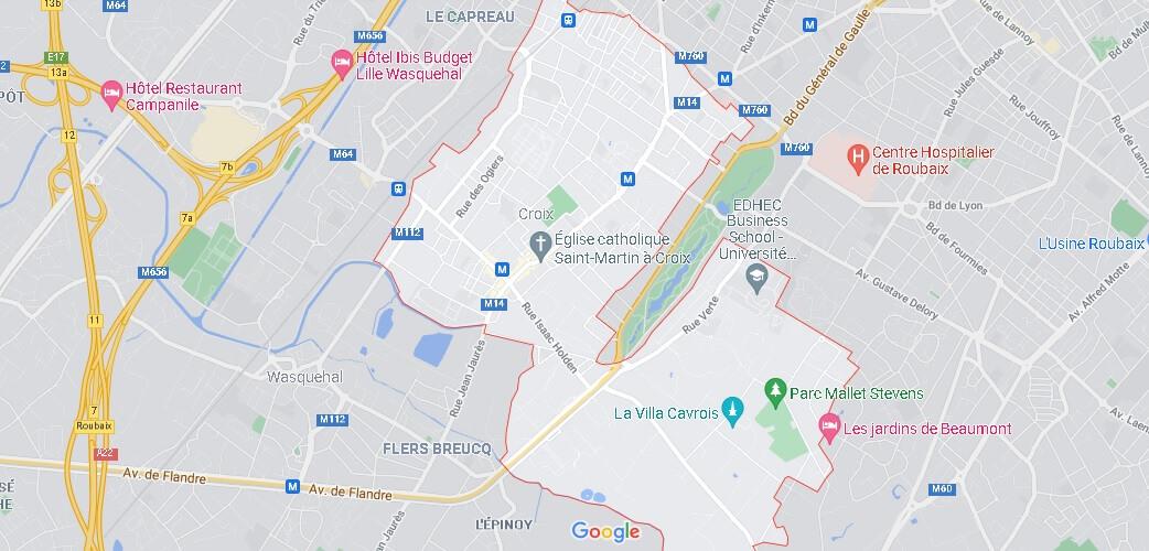 Carte Plan Croix