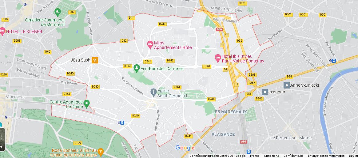 Carte Plan Fontenay-sous-Bois
