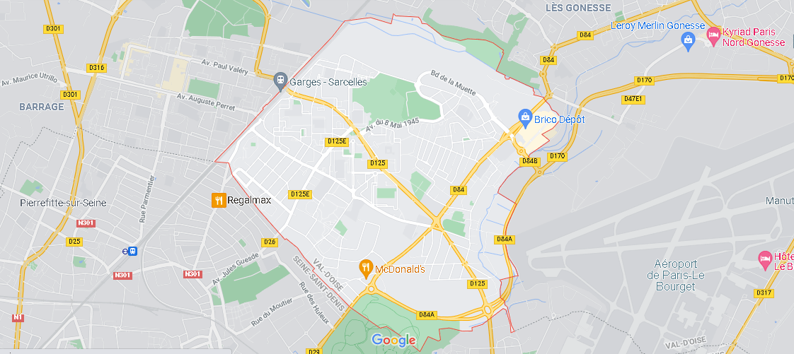 Carte Plan Garges-lès-Gonesse