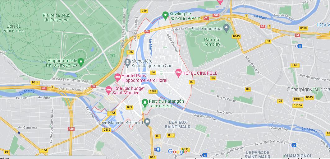 Carte Plan Joinville-le-Pont