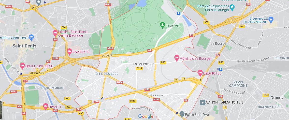 Carte Plan La Courneuve