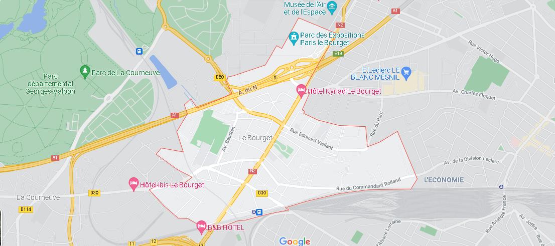 Carte Plan Le Bourget