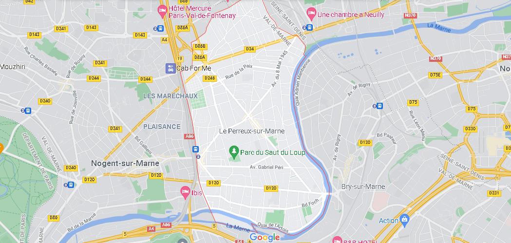 Carte Plan Le Perreux-sur-Marne