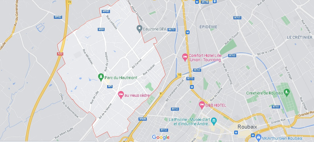 Carte Plan Mouvaux