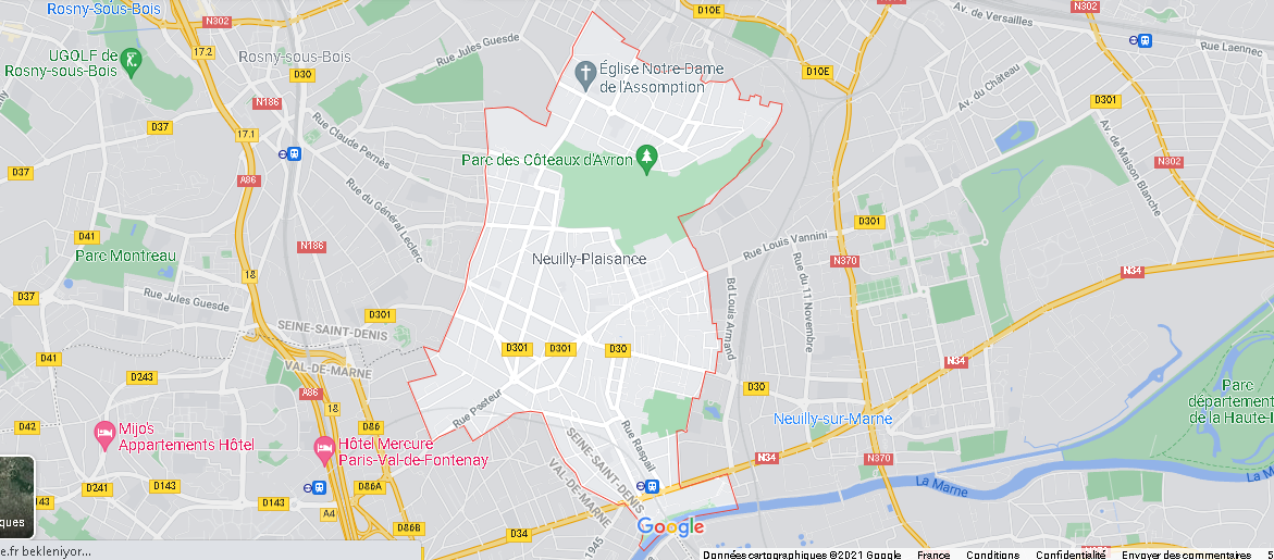 Carte Plan Neuilly-Plaisance