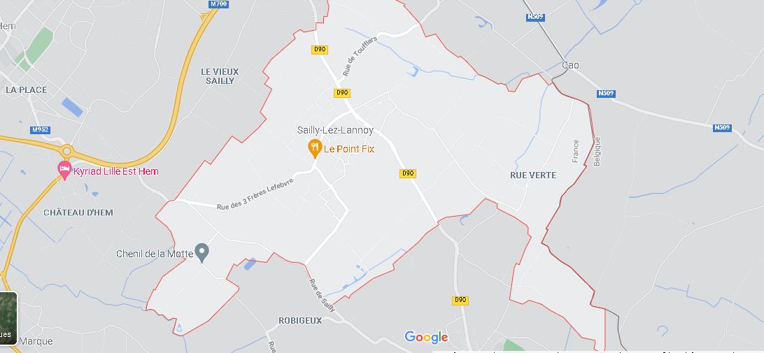 Carte Plan Sailly-lez-Lannoy