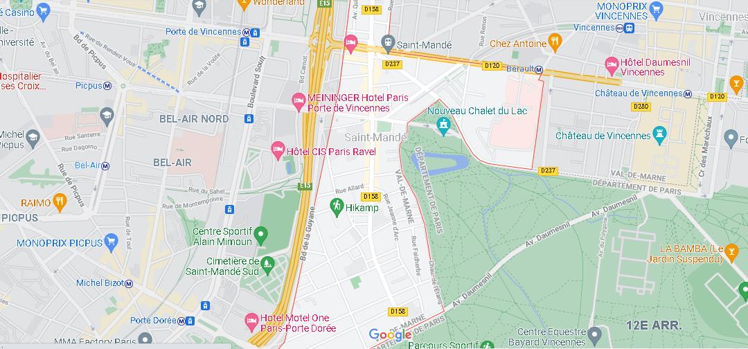Carte Plan Saint-Mandé